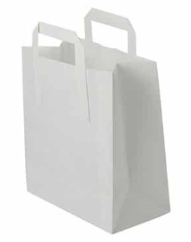 Sustain Recycled Small Paper Carrier Bag – White – 175 x 95 x 215mm
