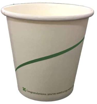 Sustain Single Walled Bio Hot Cup – Print – 4oz/120ml