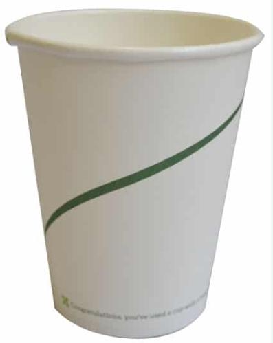 Sustain Single Walled Bio Hot Cup – Print – 8oz/240ml