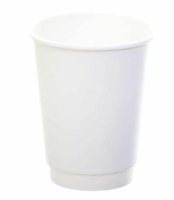 Sustain White Double Wall Bio Hot Cup – Plain – 12oz/360ml
