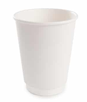 Sustain White Double Wall Bio Hot Cup – Plain – 8oz/240ml