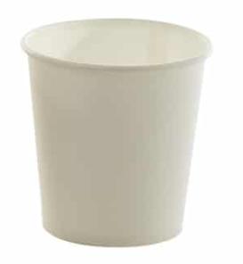 Sustain White Single Wall Bio Hot Cup – Plain – 4oz / 120ml