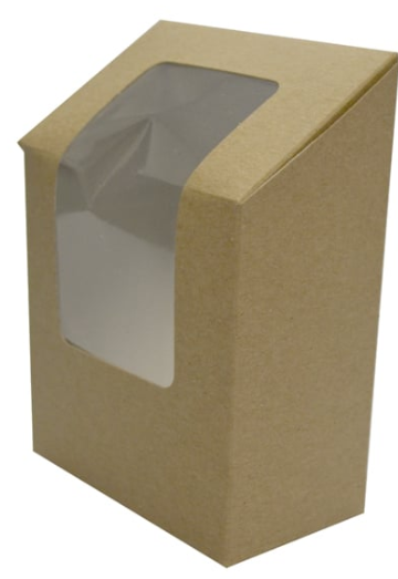 Sustain Wrap Box With Window – Brown – 121mm