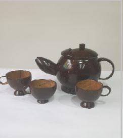 Tea Cup Set- Coconut