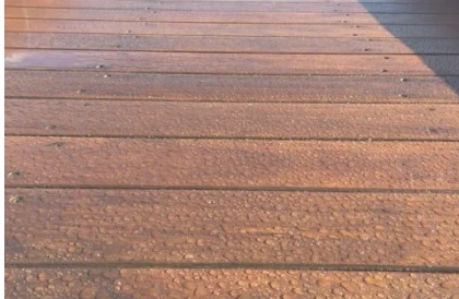 Timber Deck Sanding and Oil Coating