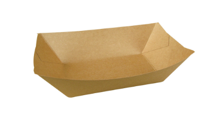 TRAY BROWN NO 1 BIODEGRADABLE BROWN FOOD TRAY