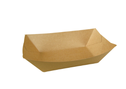 TRAY BROWN NO 2 BIODEGRADABLE BROWN FOOD TRAY