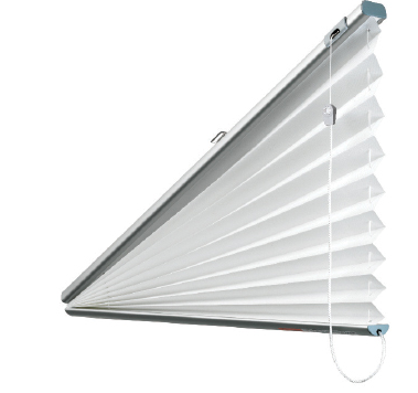 Triangle Fan Top Slope Pleated Blind