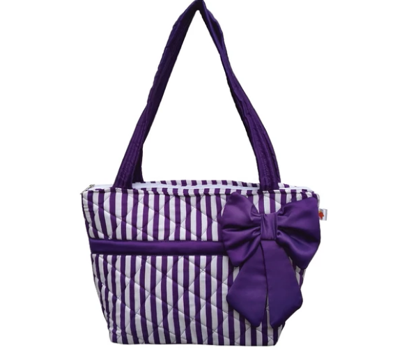 Valentina bag - Purple Stripe