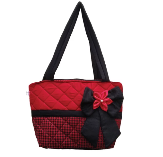 Valentina bag - Red & Black