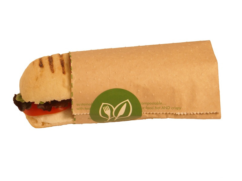 Vegware 8 x 10 x 9in Therma paper pouch