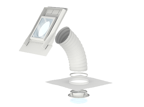 VELUX sun tunnels for pitched roofs- Flex tunnels TWF/TLF