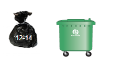 Waste and Recycling Container Sizes- 1100l wheelie bin