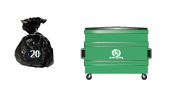 Waste and Recycling Container Sizes- 2200l wheelie bin