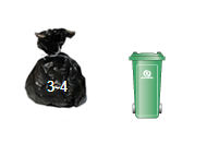 Waste and Recycling Container Sizes- 240l wheelie bin
