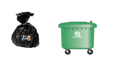 Waste and Recycling Container Sizes- 660l wheelie bin