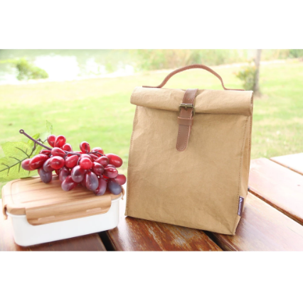 Waterproof Kraft Paper Lunch Box Bag