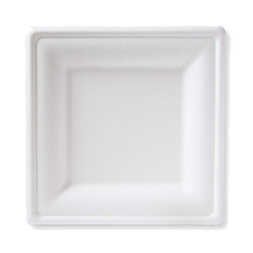 White Sugarcane Square Plates