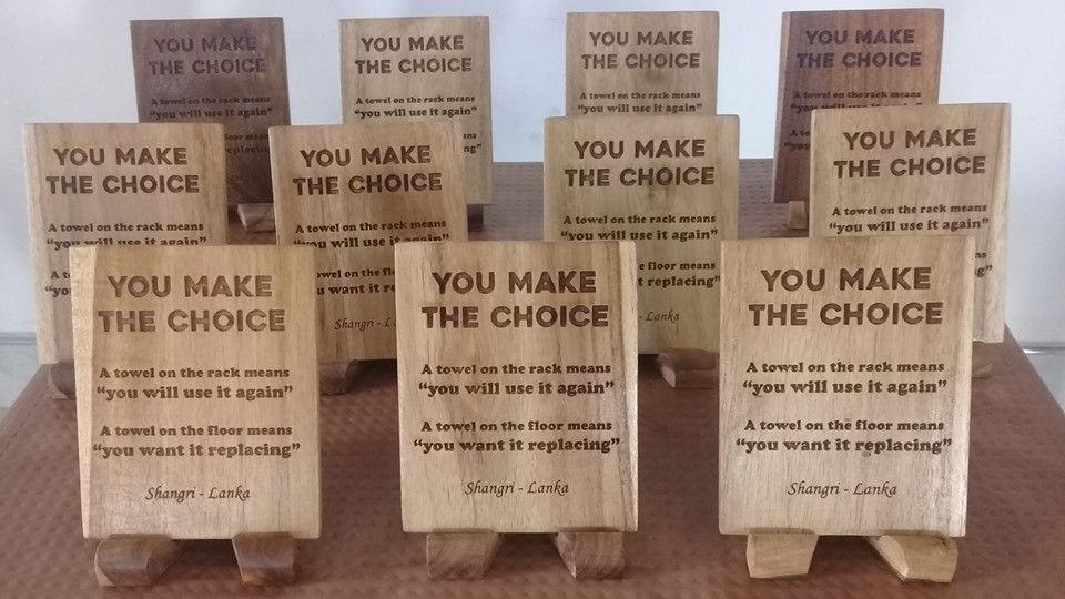 Wooden notice tags