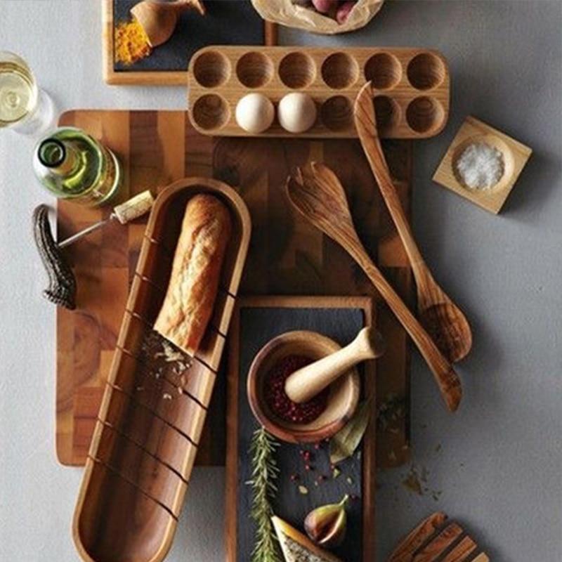 Wooden Organizer Rack Eggs Holder