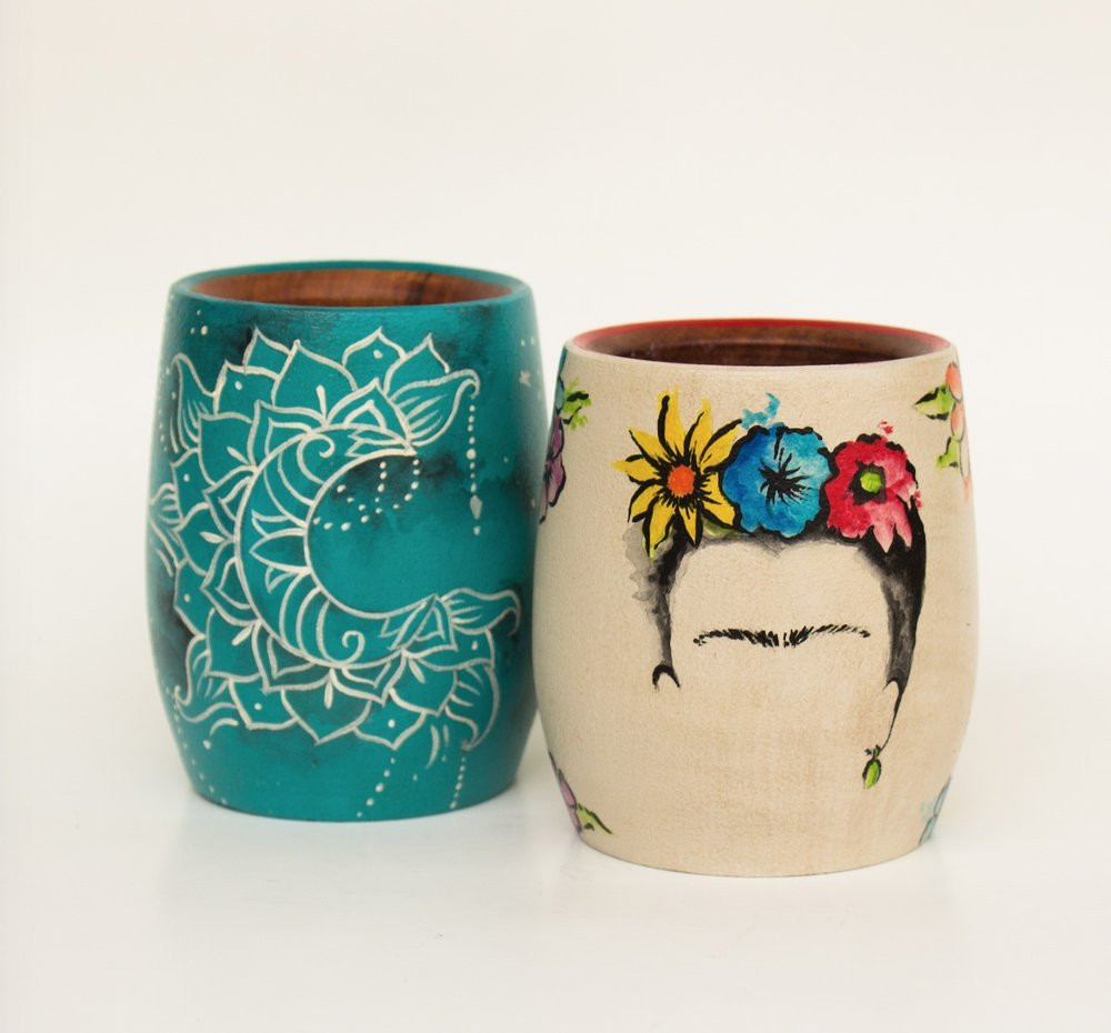 Wooden Yerba Mate Cups
