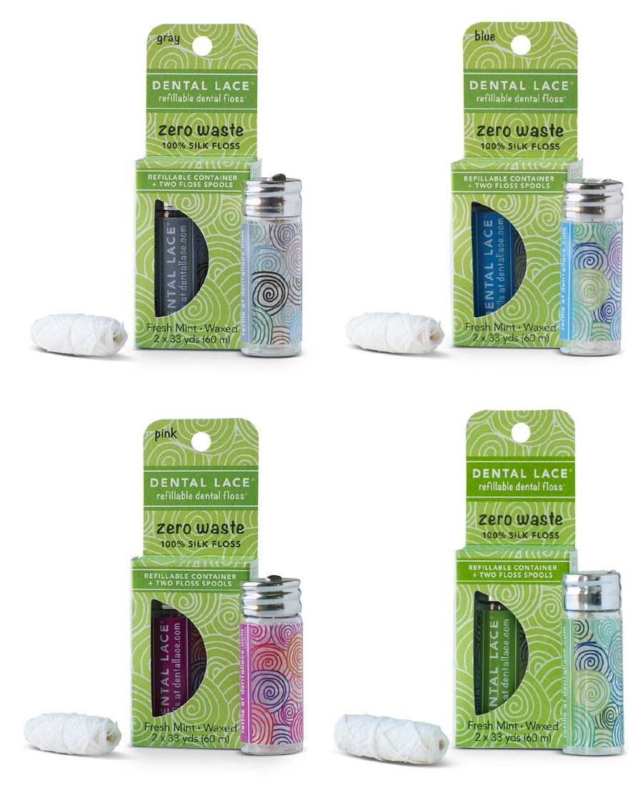 Zero Waste Refillable Silk Floss Bundle - 4 Container Pack