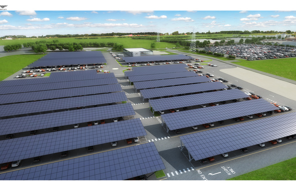 Bentley Motors starts work on UK's largest solar car port