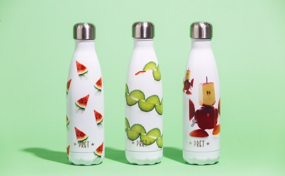 Pret launches reusable water bottles in bid to cut plastic waste