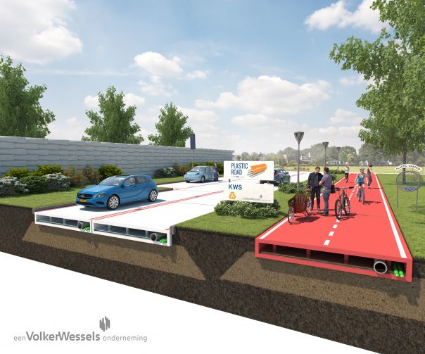 Netherlands builds the first PlasticRoad