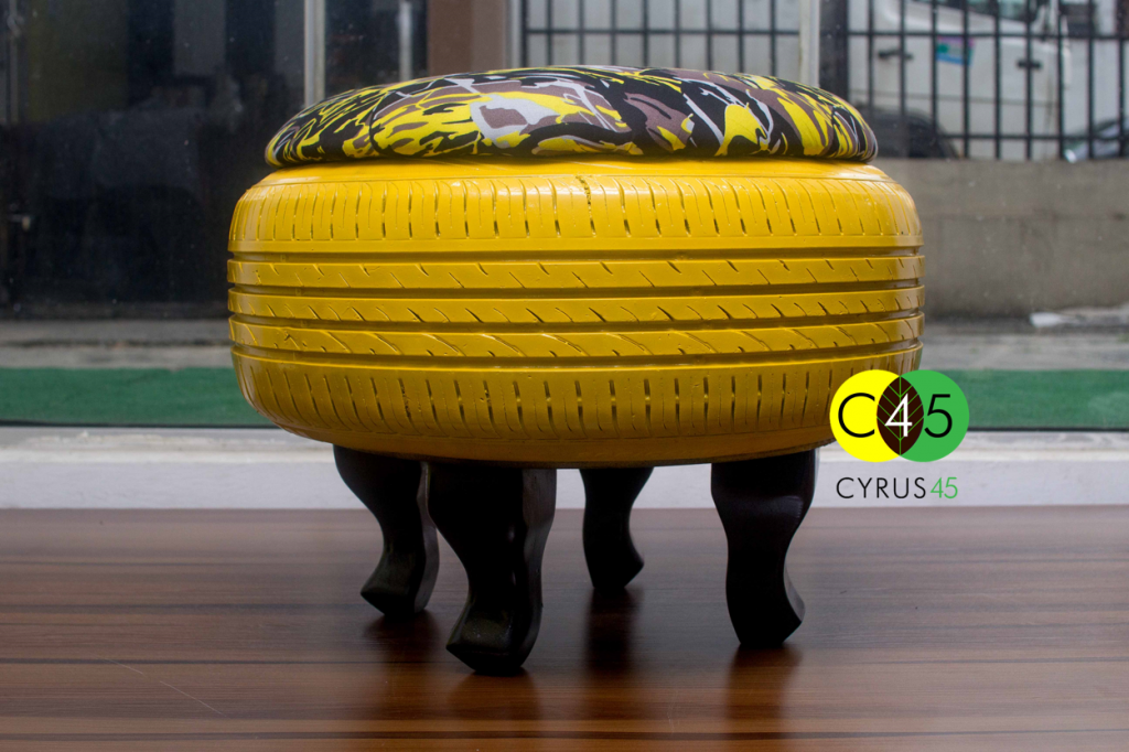 This Nigerian Woman Transforms Tires Into Cool Recycled Furniture
