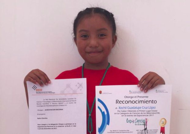 This 8-Year-Old Mexican Girl Won a Prize for Making a Solar Heater From Recycled Objects