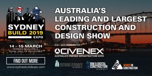 SYDNEY BUILD EXPO 2019 – FREE CONFERENCE & SUMMITS