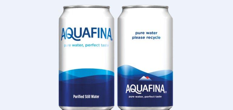 PepsiCo to trial Aquafina in aluminum cans