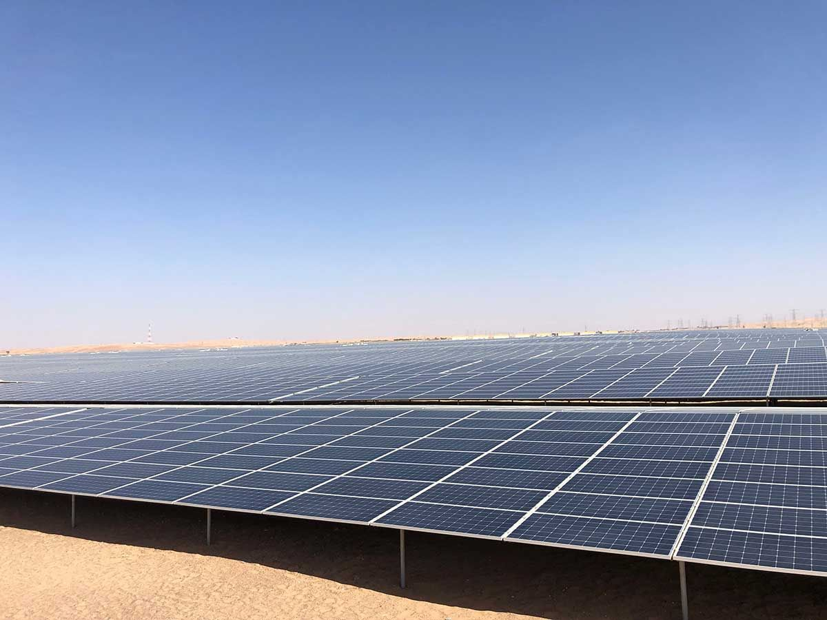 JinkoSolar commissioned the world's largest solar project in Abu Dhabi.