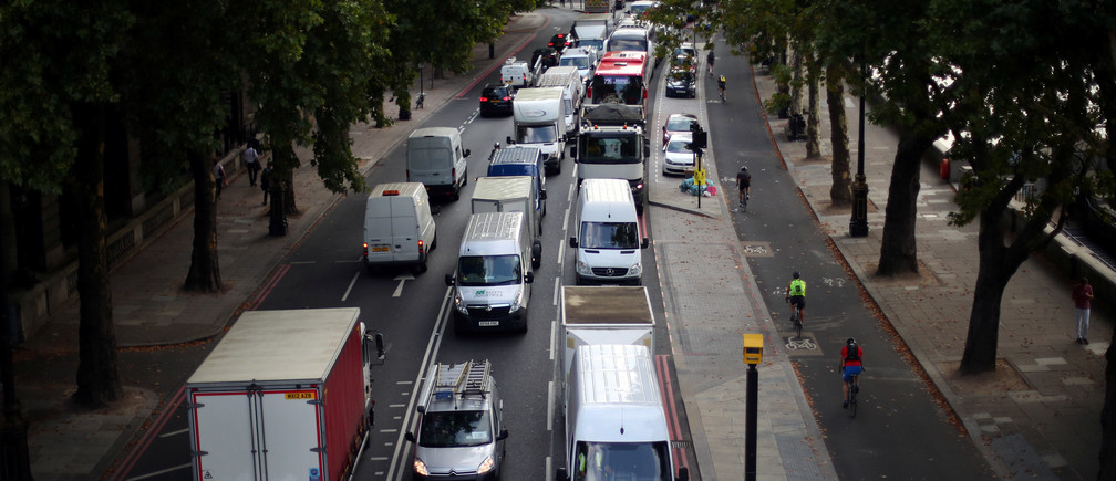 This London street is the first in Britain to ban all petrol and diesel cars.