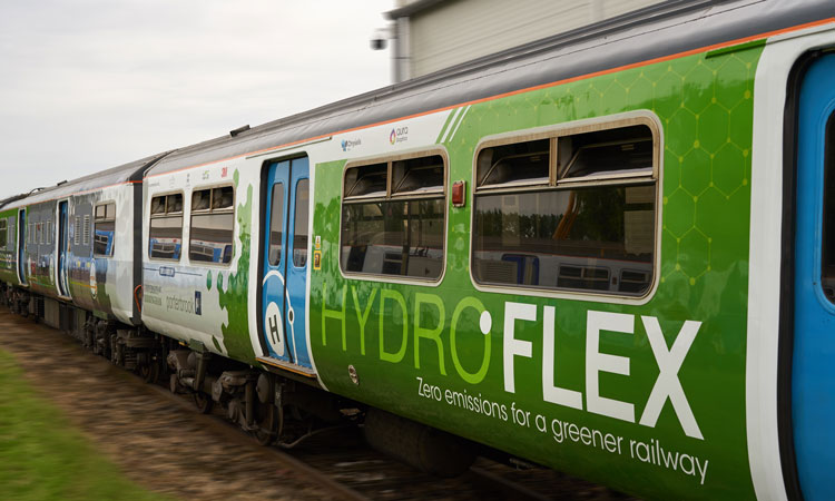 Hydrogen-powered train makes UK maiden journey