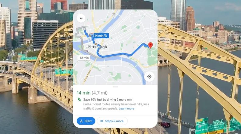 Google launches new features to help users shrink their carbon footprints